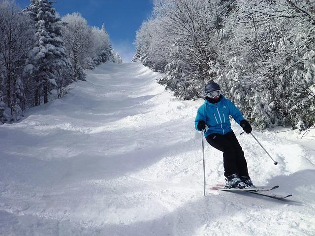 Descente des pistes de ski