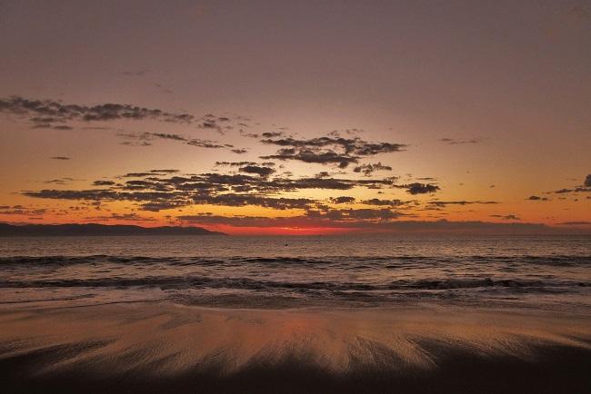 Plage de Puerto Vallarta au coucher du soleil