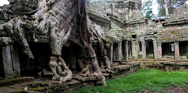 Temple ancien au Cambodge
