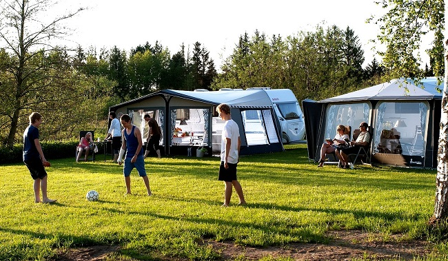 Camping en famille dans les Landes