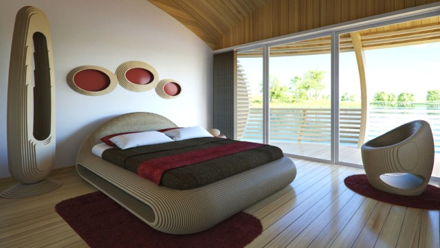 Chambre chic et cosy ©Giancarlo Zema