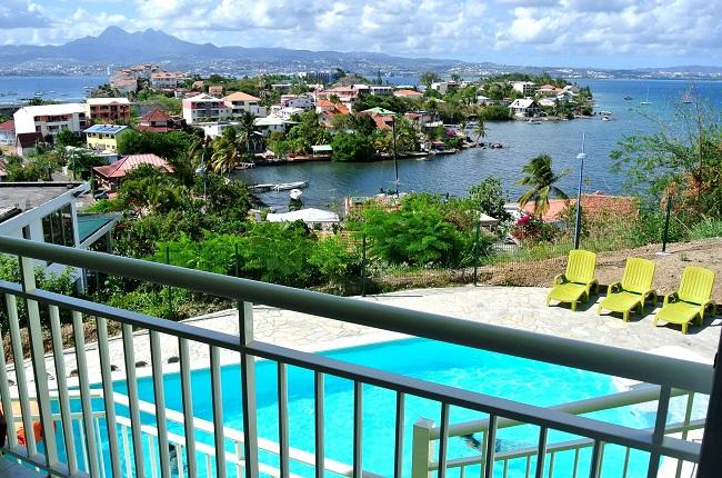 Vue panoramique depuis la villa en Martinique