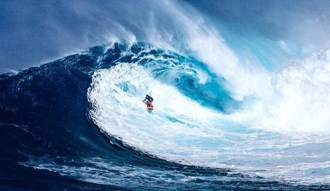 Surfeur à Hawaii