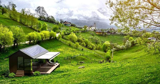 Mini-maison autonome en pleine nature ©passivdom.com