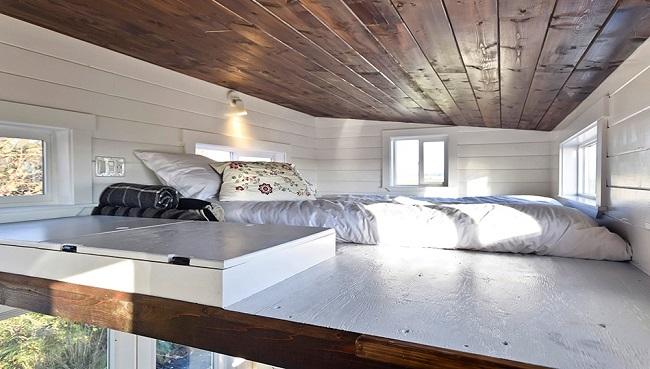 Un espace chambre lumineux © Mint tiny house company