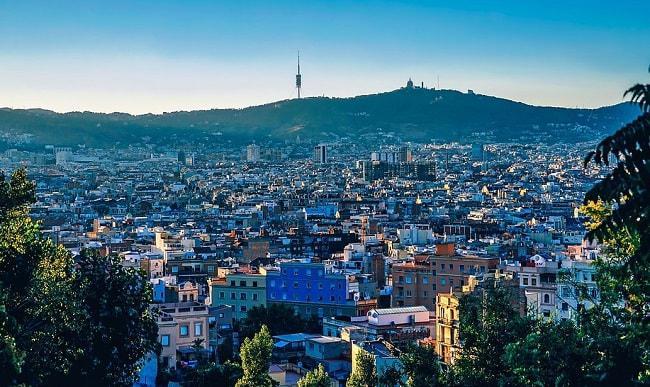 Une vue de Barcelone