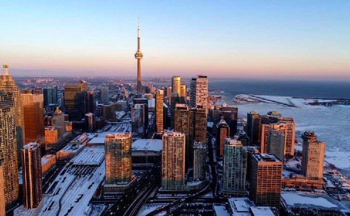 La ville de Toronto en hiver