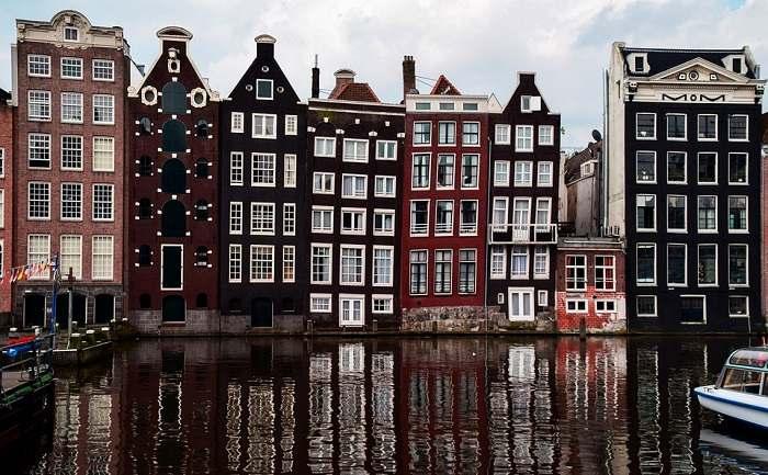 Architecture typique d'Amsterdam